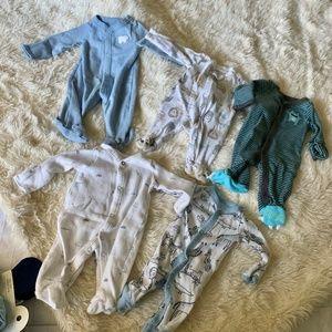 Set of 5 Carters Preemie Sleepers